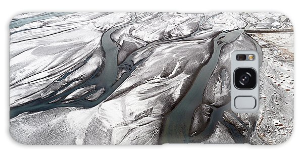 Galaxy Case featuring the photograph Melting Ice Patterns In Iceland by Pradeep Raja PRINTS