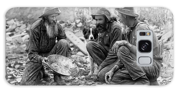 3 Men And A Dog Panning For Gold C. 1889 Galaxy Case by Daniel Hagerman