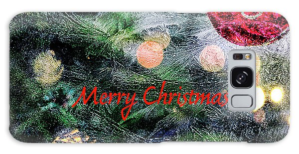 Merry Christmas Background Galaxy Case by Patricia Hofmeester