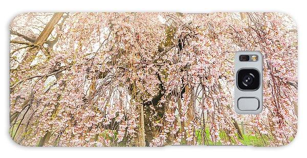 Galaxy Case featuring the photograph Miharu Takizakura Weeping Cherry04 by Tatsuya Atarashi