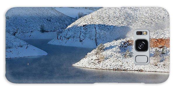 Mountain Lake In Winter Galaxy Case