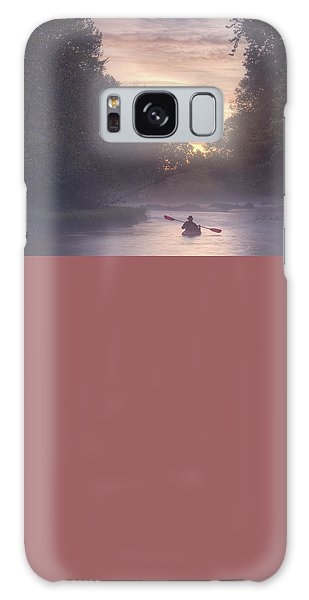 Paddling In Mist Galaxy Case by Robert Charity