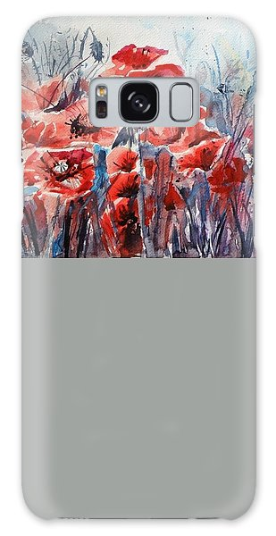 Poppies Galaxy Case