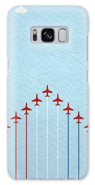 Fighter Galaxy Case - Raf Red Arrows In Formation by Samuel Whitton