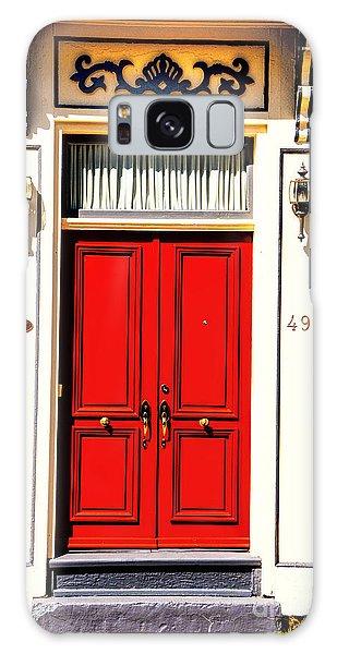 Red Door Galaxy Case by Rick Bragan