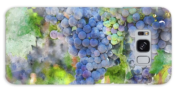 Red Wine Grapes On The Vine Galaxy Case