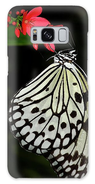 Rice Paper Butterfly Galaxy Case