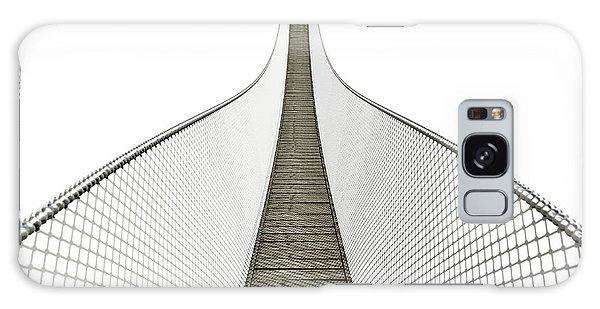 Board Walk Galaxy Case - Rope Bridge On White by Allan Swart