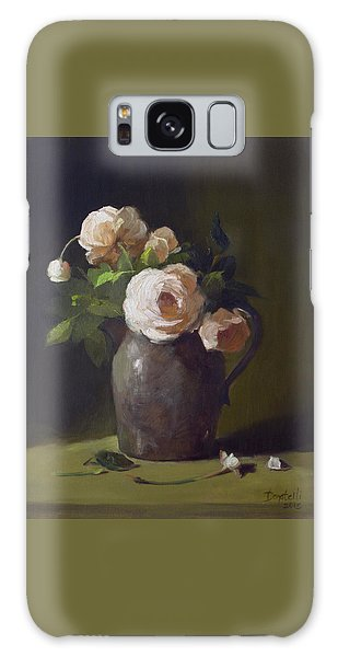 3 Roses In Silver Pitcher Galaxy Case