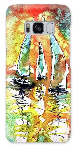 Sailboats Galaxy Case by Kovacs Anna Brigitta