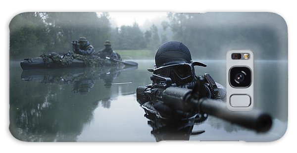 Galaxy Case featuring the photograph Special Operations Forces Combat Diver by Tom Weber