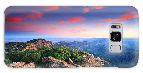 St Mary Peak Sunrise Galaxy Case