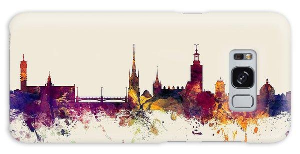 Sweden Galaxy Case - Stockholm Sweden Skyline by Michael Tompsett