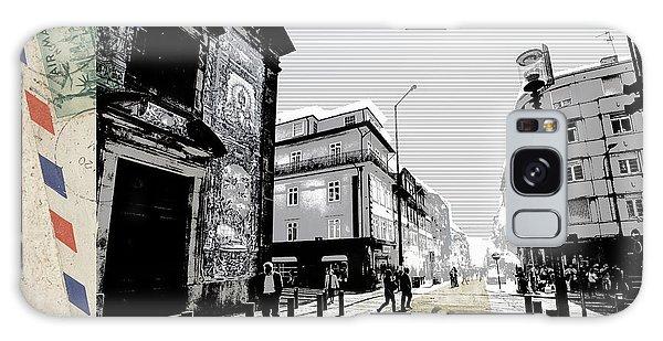 stylish retro postcard of Porto  Galaxy Case