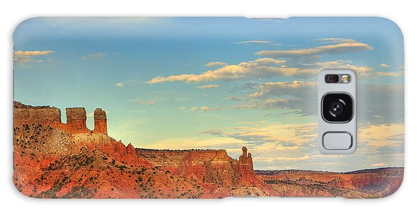 Sunset At Ghost Ranch Galaxy Case by Alan Vance Ley