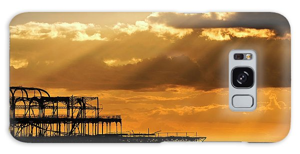 The West Pier In Brighton At Sunset Galaxy Case