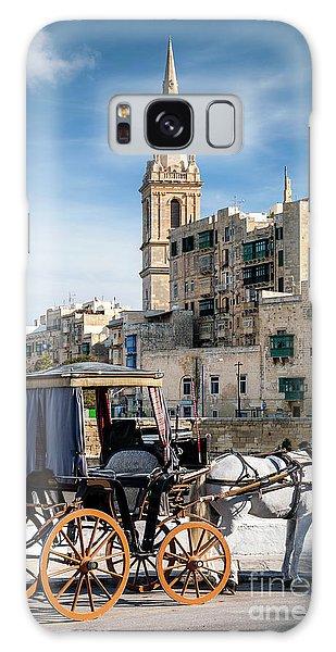 Tourist Horse Carriage In Old Town Street La Valletta Malta Galaxy Case