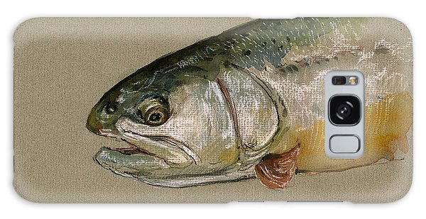 Trout Galaxy Case - Trout Watercolor Painting by Juan  Bosco