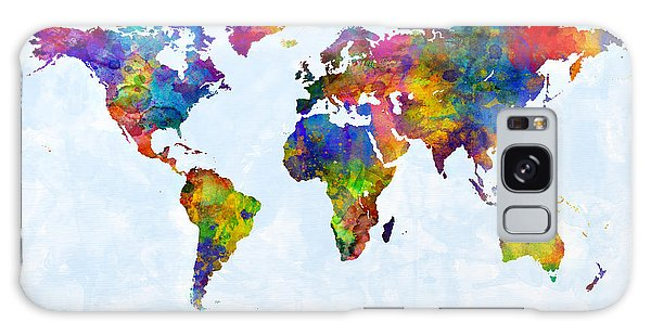 Watercolor Map Of The World Map Galaxy Case