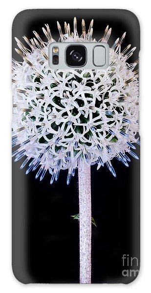 White Alium Onion Flower Galaxy Case