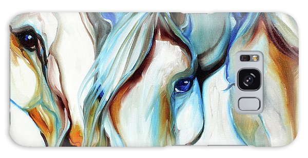 3 Wild Horses In Abstract Galaxy Case