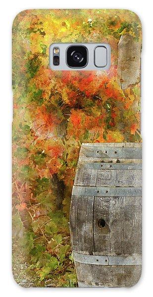 Wine Barrel In Autumn Galaxy Case