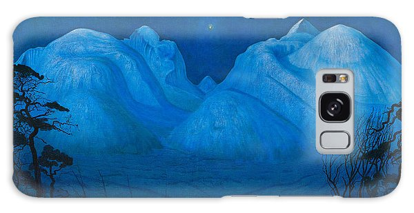 Winter Night In The Mountains Galaxy Case
