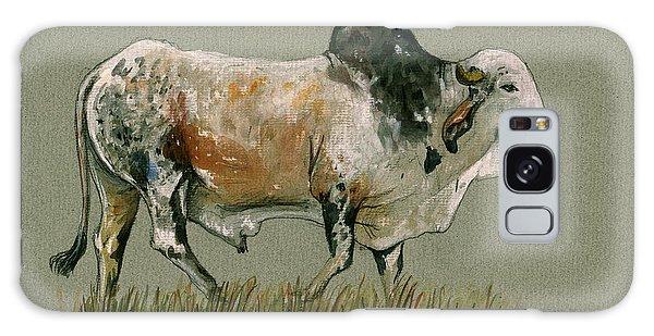 Zebu Cattle Art Painting Galaxy Case by Juan  Bosco