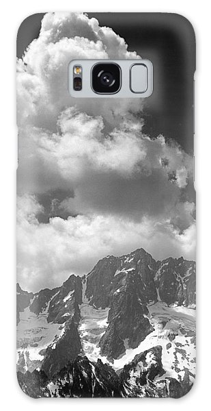 304638 Clouds Over Mt. Stuart Bw Galaxy Case