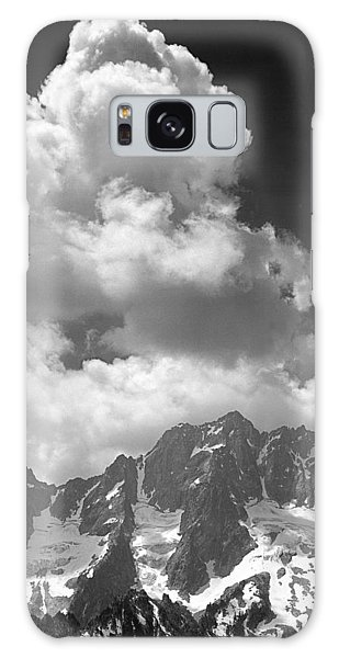 304638 Clouds Over Mt. Stuart Bw Galaxy Case