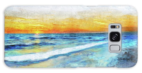 Seascape Sunrise Impressionist Digital Painting 31a Galaxy Case