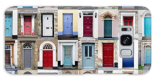 Brick House Galaxy Case - 32 Front Doors Horizontal Collage  by Richard Thomas