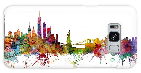 Poster Galaxy Case - New York Skyline by Michael Tompsett