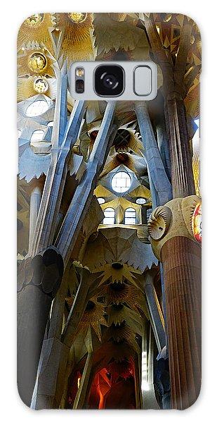 Artistic Achitecture Within The Sagrada Familia In Barcelona Galaxy Case by Richard Rosenshein