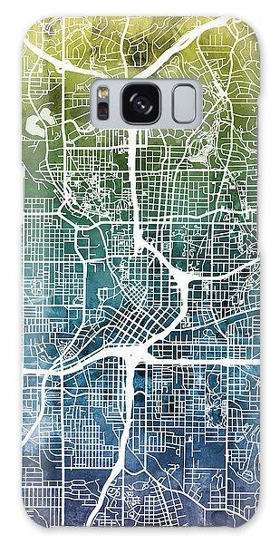 Watercolor Galaxy Case - Atlanta Georgia City Map by Michael Tompsett