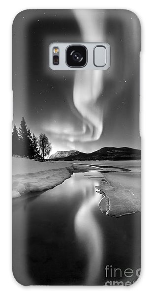Galaxy Case featuring the photograph Aurora Borealis Over Sandvannet Lake by Arild Heitmann