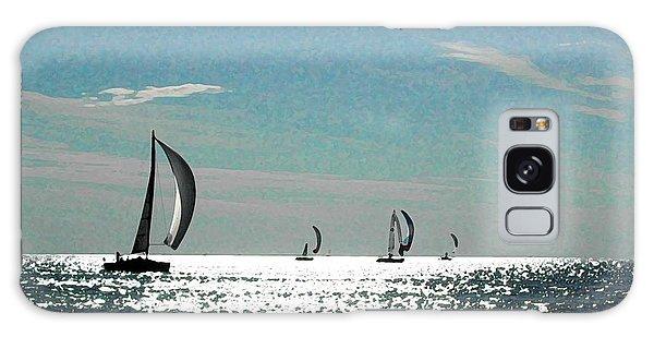 4 Boats On The Horizon Galaxy Case