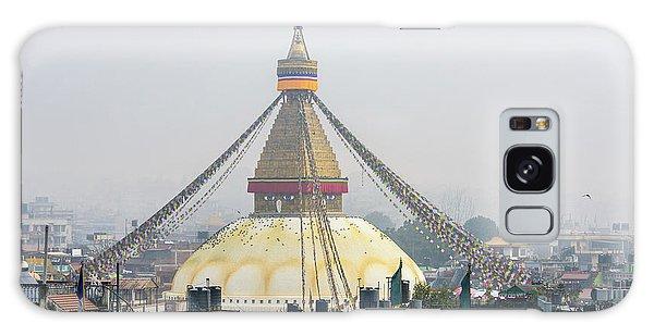 Boudhanath Stupa In Kathmandu Galaxy Case