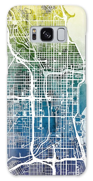 Grant Park Galaxy Case - Chicago City Street Map by Michael Tompsett