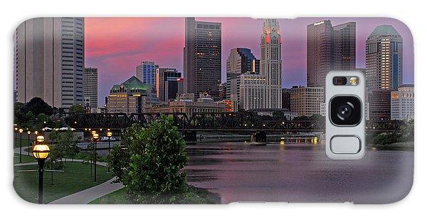 D2l37 Columbus Ohio Skyline Photo Galaxy Case