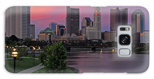 D2l37 Columbus Ohio Skyline Photo Galaxy Case
