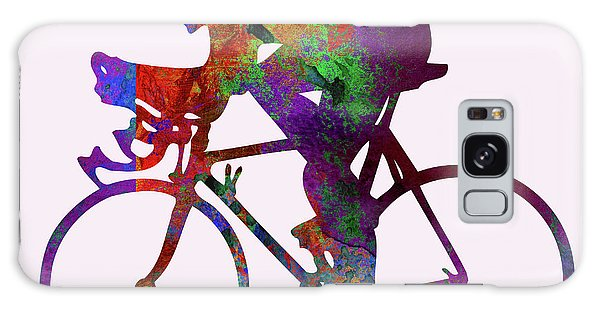 Sportsman Galaxy Case - Cyclist by Elena Kosvincheva