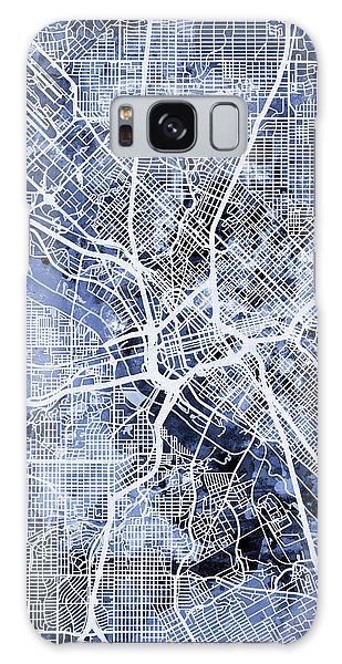 Dallas Galaxy S8 Case - Dallas Texas City Map by Michael Tompsett