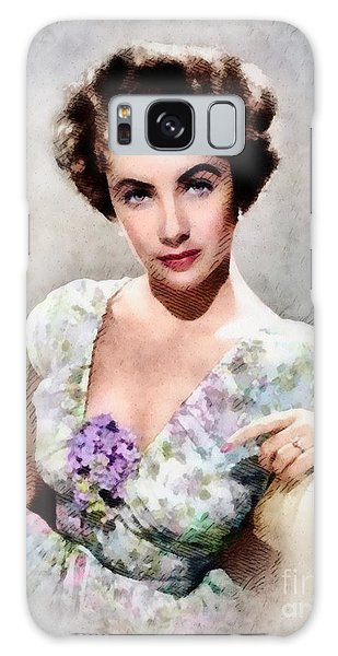 Elizabeth Taylor, Vintage Hollywood Legend Galaxy Case by John Springfield
