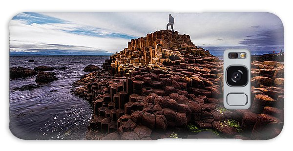 Man Atop Giant's Causeway Galaxy Case