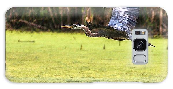 Great Blue Heron In Flight Galaxy Case