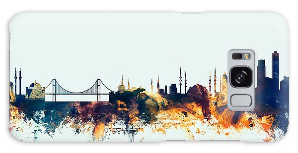 Turkey Galaxy Case - Istanbul Turkey Skyline by Michael Tompsett