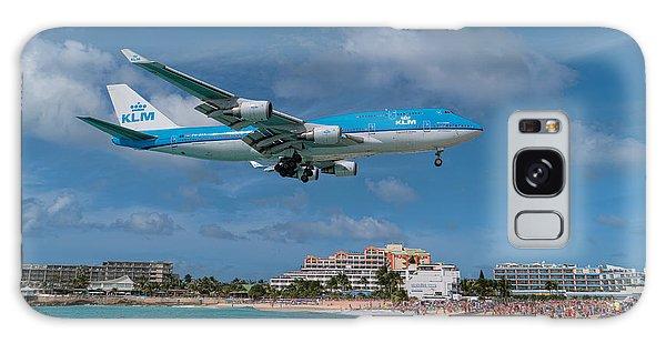 K L M Landing At St. Maarten Galaxy Case