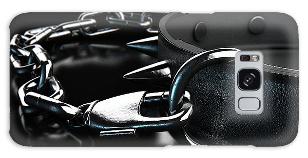 Leash Galaxy Case - Leather Studded Collar And Chain by Allan Swart