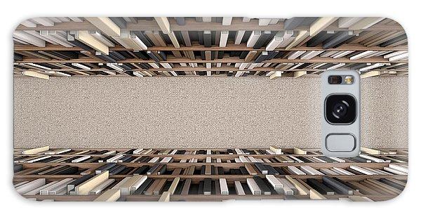 Shelves Galaxy Case - Library Bookshelf Aisle by Allan Swart